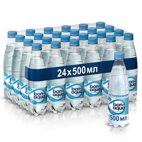 Вода питьевая Bon Aqua ПЭТ 0,5л негаз. 24 шт/уп
