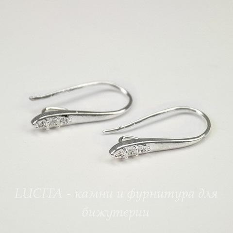 Швензы - крючки, 24х9 мм (цвет -  серебро), пара