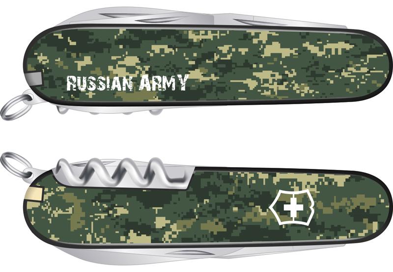"Нож Victorinox Spartan, 91 мм, 12 функций, ""Российская армия"""