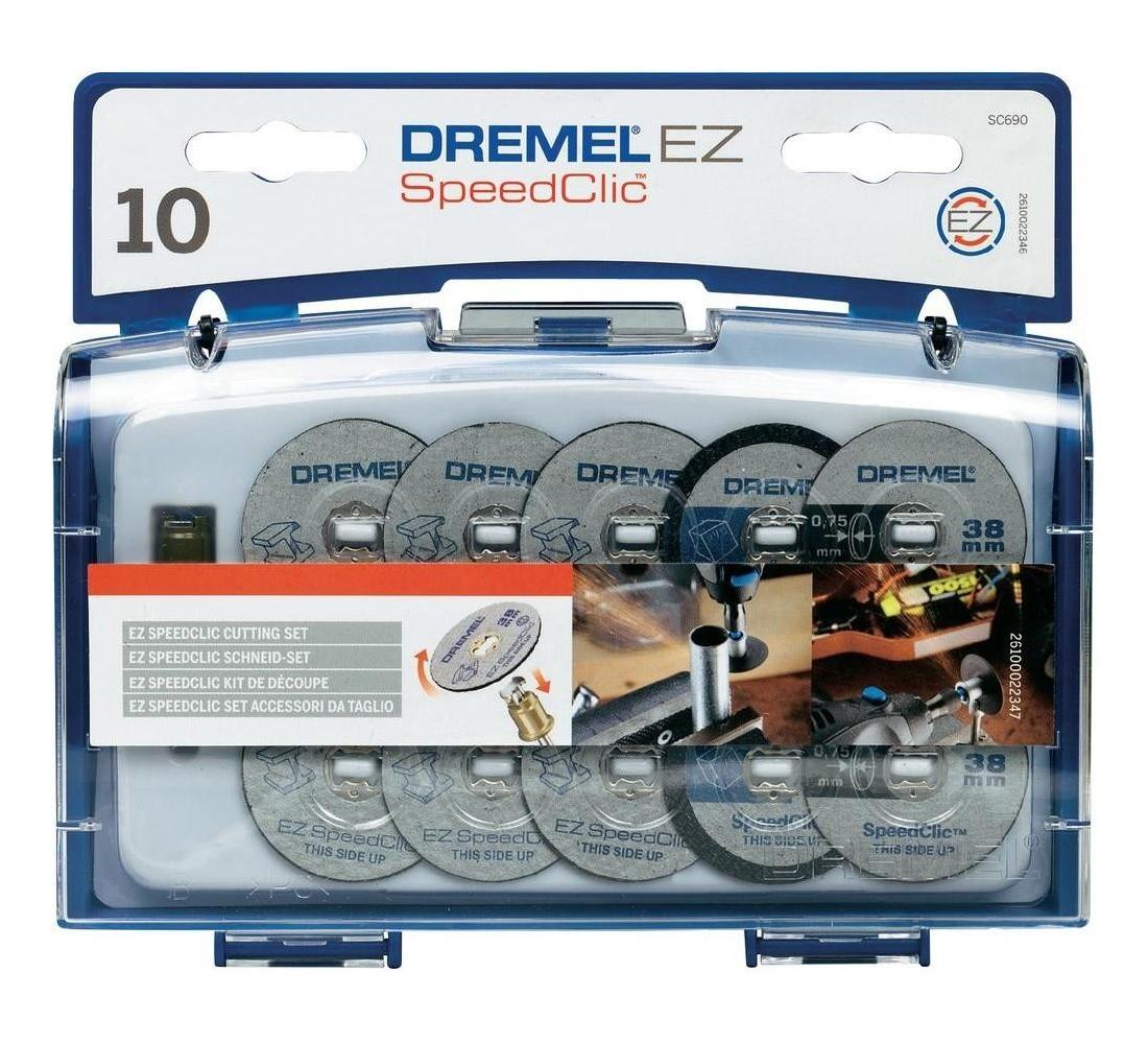 Набор 10 отрезных кругов и специальный держатель SpeedClic SC690 Dremel 2615S690JA