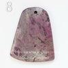 """Подвеска Агат """"Крейзи"""" (тониров), цвет - фиолетовый, 46-59 мм (№8 (51х41 мм))"""