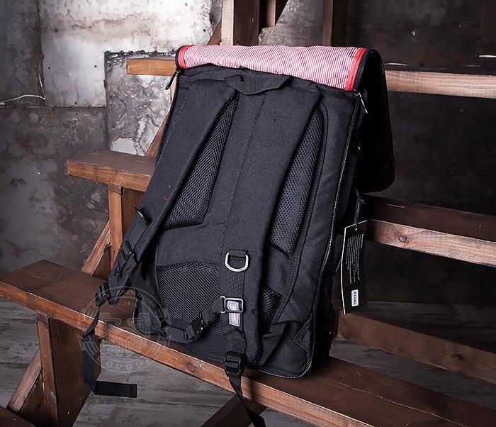 BAG405-1 Вместительный рюкзак трансформер сумка из ткани черного цвета фото 07