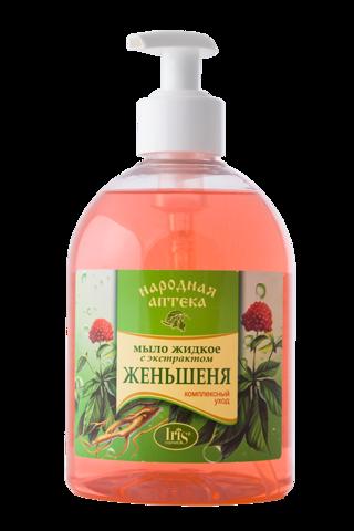 Iris Народная аптека Мыло жидкое с экстрактом женьшеня 500мл