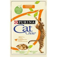 Cat Chow пауч для кошек (с курицей и кабачками) 85 г