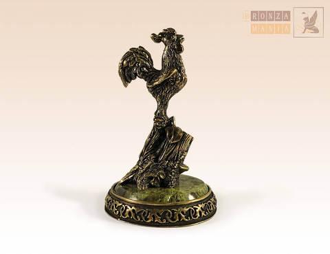 фигурка Петух карандашница на змеевике