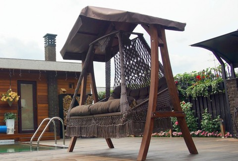 Подвесное кресло-качели «Сеара» на каркасе «Каравелла»