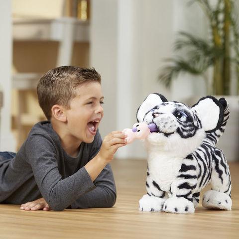 Рычащий Тигренок интерактивная игрушка Белый