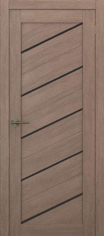 Дверь APOLLO DOORS F15, стекло чёрное Lacobel, цвет орех золотой, остекленная