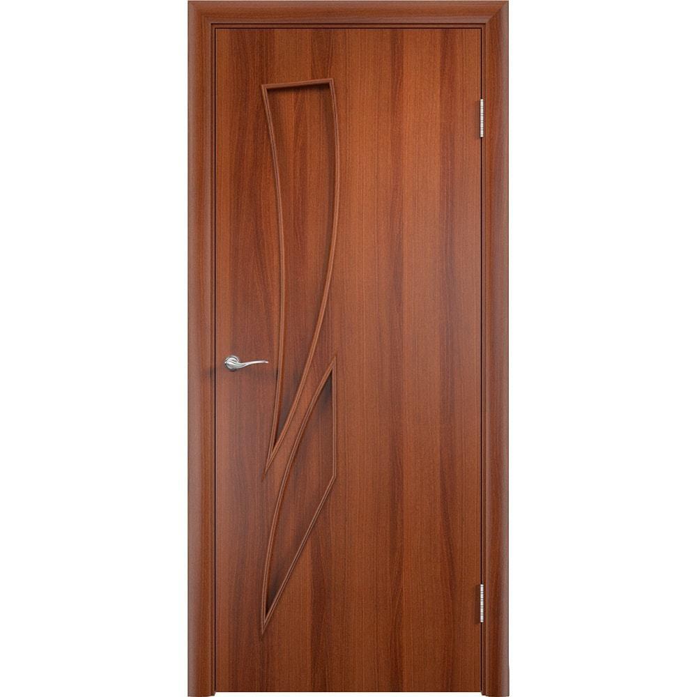 Ламинированные двери Стрелиция итальянский орех без стекла streliciya-pg-ital-oreh-dvertsov-min.jpg
