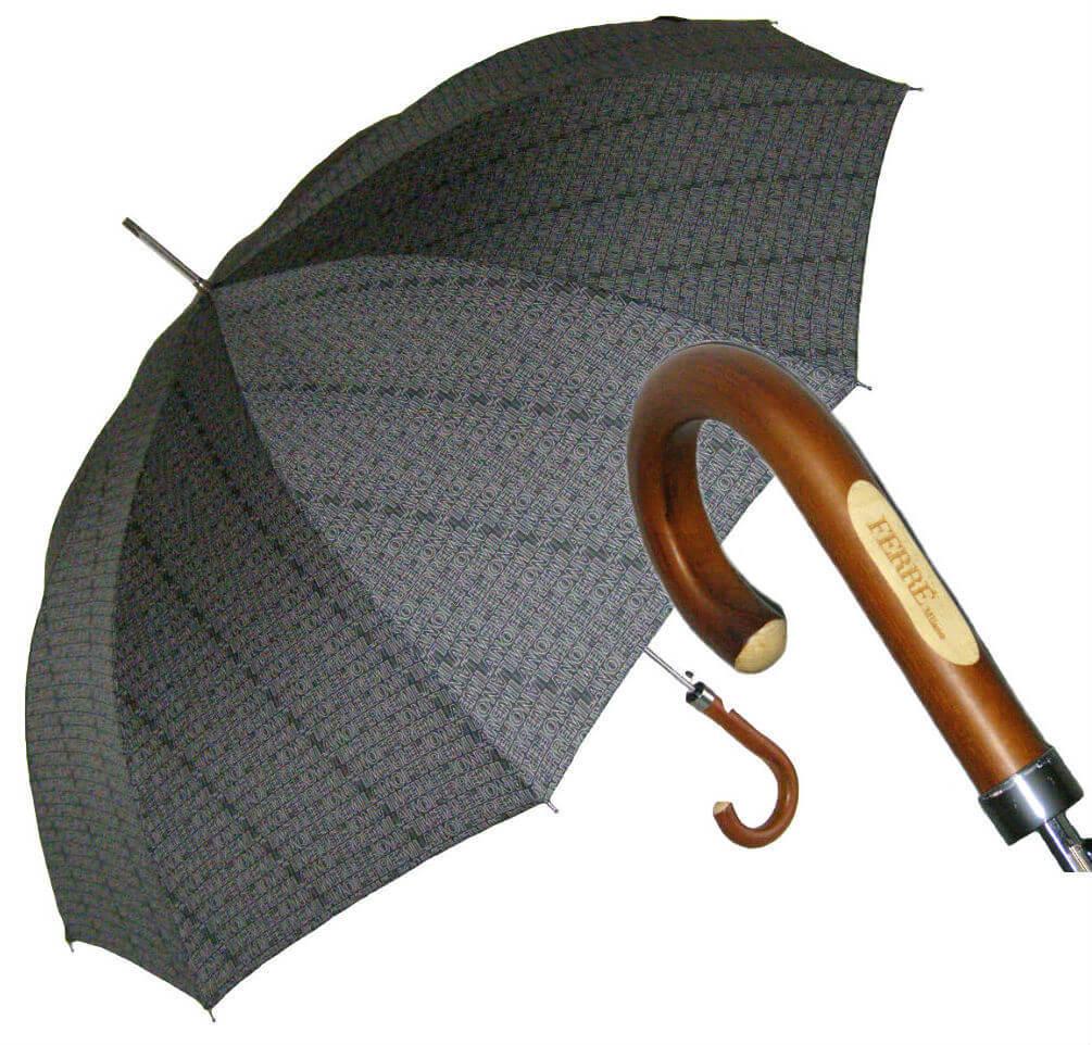 Зонт-трость Ferre GF -2008-Legno Grigio