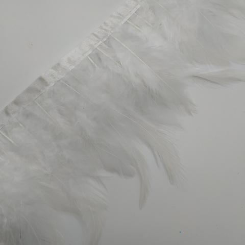 Тесьма  из перьев петуха h- 8-10см., белый