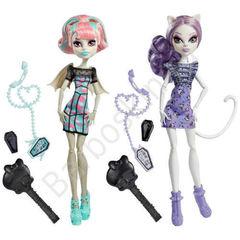 Набор кукол Monster High Рошель Гойл (Rochelle Goyle) и Катрин Де Мяу (Catrine DeMew) - Ghoul Chat (Монстро - разговорчики)