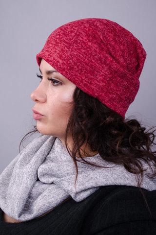 Фэшн. Молодёжные женские шапки. Бордо ангора.