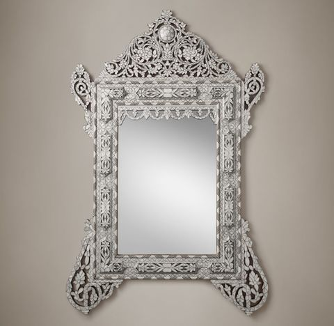 Hand-Carved Inlay Mirror