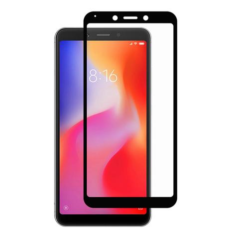 Стекло защитное 5d для Xiaomi Redmi 6 (черный)