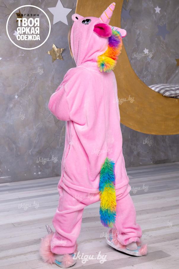 """Детские пижамы кигуруми """"Облачно-розовый единорог"""" obl_roz.jpg"""