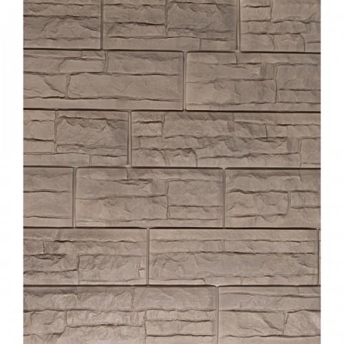 Фасадные панели (Цокольный Сайдинг) Доломит Скалистый Риф Премиум Графит