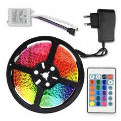 Cветодиодная лента LED STRIP 5m с блоком питания RGB (Цветная)
