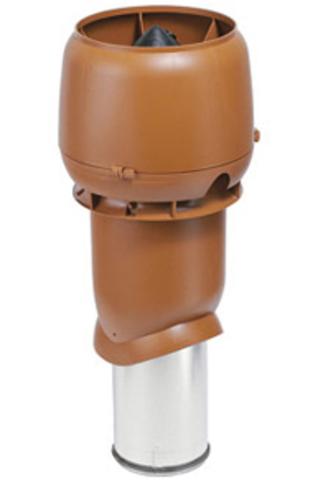 Вентиляционный выход 160/225/500 RAL8017 выход вытяжки изолир.вентил.выход с колпаком 500х225мм