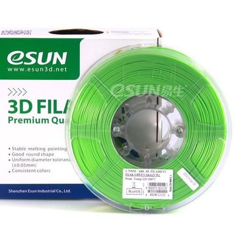 Пластик ABS ESUN 1.75 мм 1кг., светло-зеленый (ABS175V1)