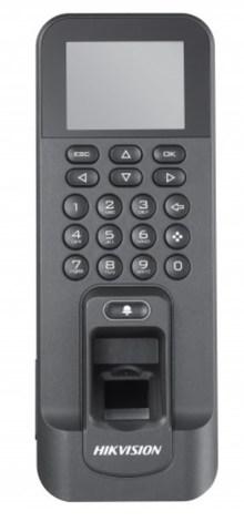 DS-K1T804MF Терминал доступа со встроенными считывателями Mifare карт и отпечатков пальцев
