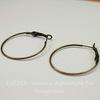 Швензы - кольца простые 35 мм (цвет - античная бронза)