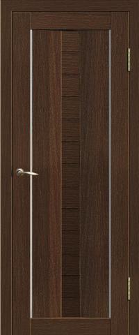 Дверь Двероникс 08, стекло матовое, цвет дуб мокко, остекленная