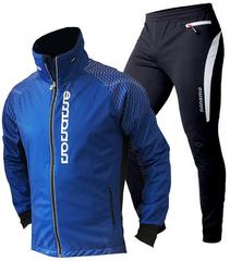 Мужской лыжный разминочный костюм Noname Clubline Activation синий