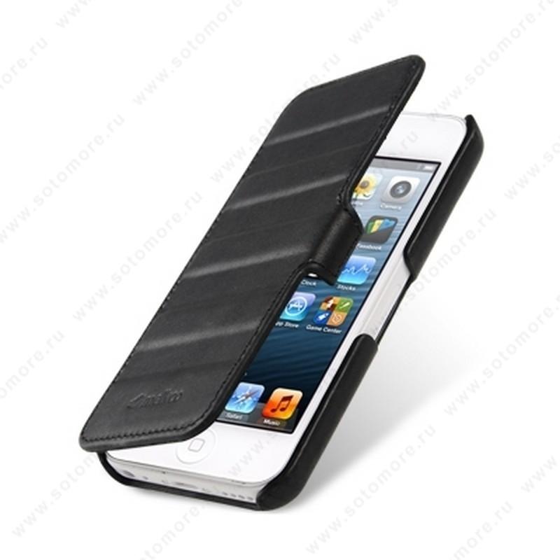 Чехол-книжка Melkco для iPhone 5sE/ 5s/ 5C/ 5 Leather Case Booka Type Craft Limited Edition Prime Horizon (Black Wax Leather)