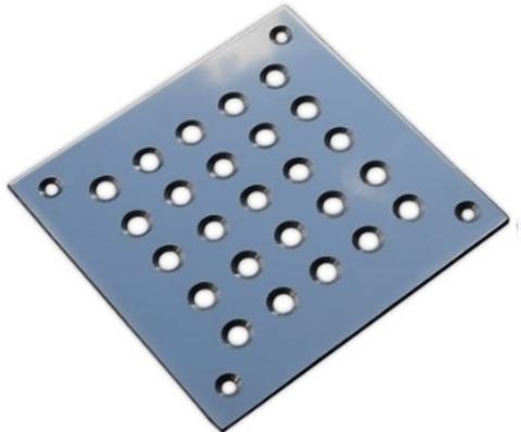 Решётка напольная 150х150 (вариант 1) из нержавеющей стали