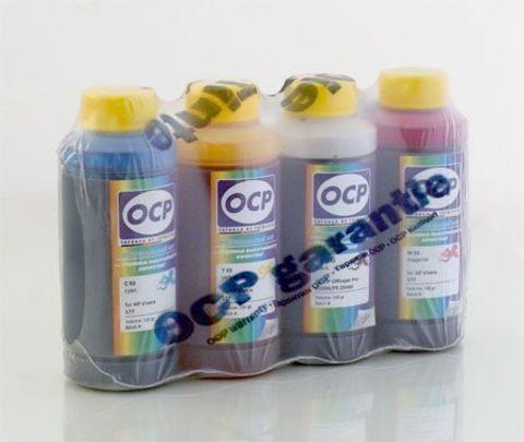 Комплект чернил OCP для картриджей HP 10/11 (HP K550, K5400 и др.) (OCP BKP 249, C/M/Y 126) 100 gr x 4