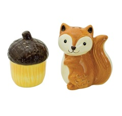 Набор солонка и перечница Boston Warehouse Woodland Friends Squirrel