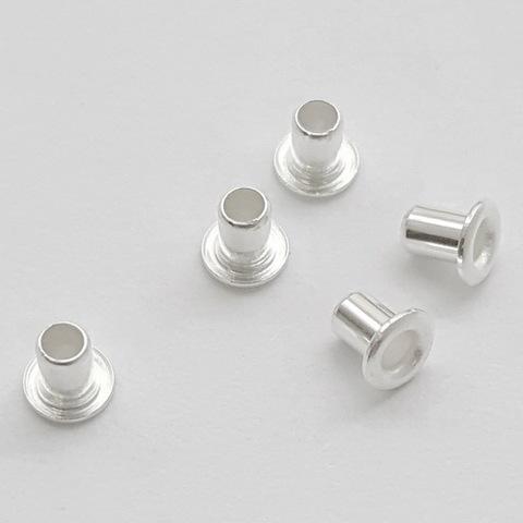 Заклепка с отверстием TierraCast 3,7х2,2 мм (цвет-серебро), 5 штук (20170913_121758)