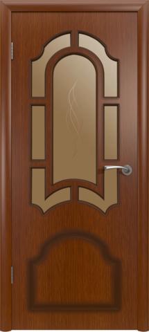 Дверь Владимирская фабрика дверей Кристалл 3ДР2, цвет макоре, остекленная