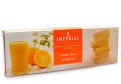 Вафли с кремом и вкуса мандарина и апельсина, 100г