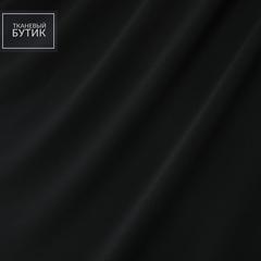 Вискозный трикотаж черного цвета с добавлением полиэстера