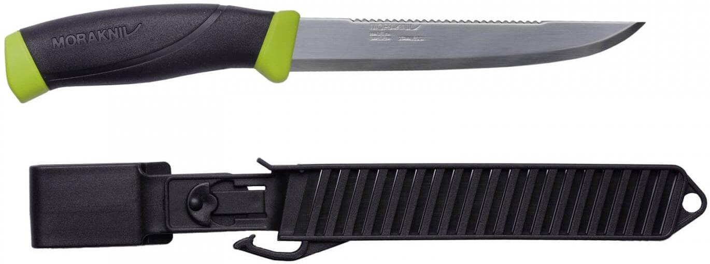 Нож рыболовный в пластиковых ножнах Morarniv Fishing Comfort Scaler 150
