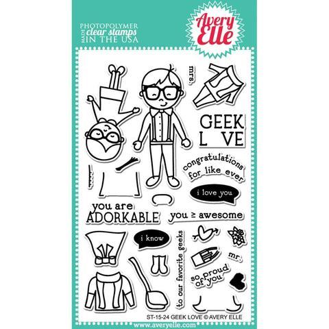 Комплект силиконовых штампов - Geek Love