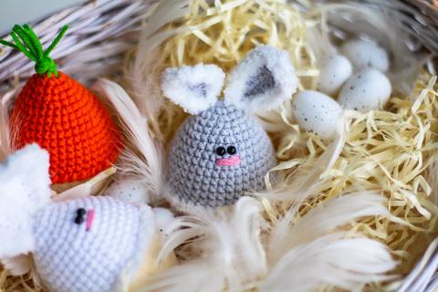Великодній набір. Великодній декор для яєць Кролики та морквина