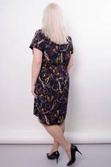 Ирина. Стильное платье-рубашка больших размеров. Синий.