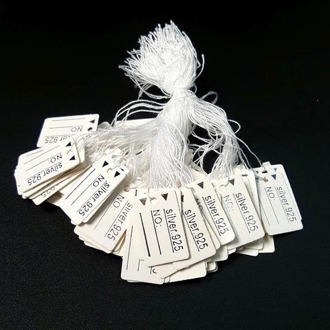 Бирки Silver 925 100 штук