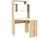 Стол письменный  ПКС-8 дуб сонома / белый глянец