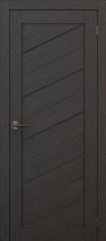 Дверь APOLLO DOORS F15, стекло чёрное Lacobel, цвет каштан тёмный, остекленная