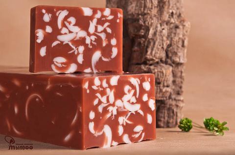 Глицериновое мыло ручной работы Красная глина с эфирным маслом розового дерева внарезку, 100г. ТМ Мылофф