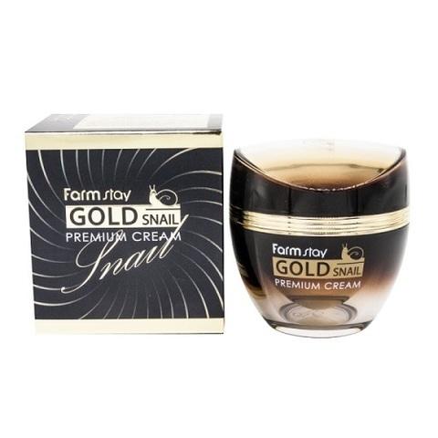 Крем для лица с золотом и муцином улитки Farmstay Gold Snail Premium Cream 50мл