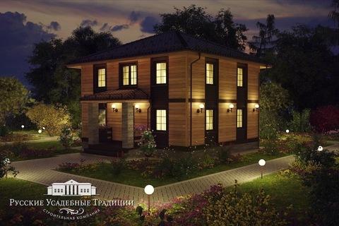 """Двухэтажный дом """"Марсель"""" 125 кв.м. из СИП панелей"""