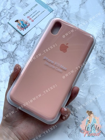 Чехол iPhone XS Max Silicone Case Full /grapefruit/