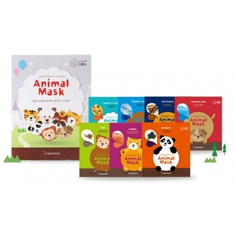 BERRISOM Animal Маска тканевая набор Animal mask series 7p Set