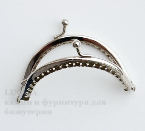 """Фермуар 9х6,3 см """"Гладкий"""" (цвет - античное серебро)"""