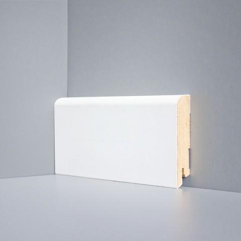 Белый ламинированный плинтус DEARTIO U102-80